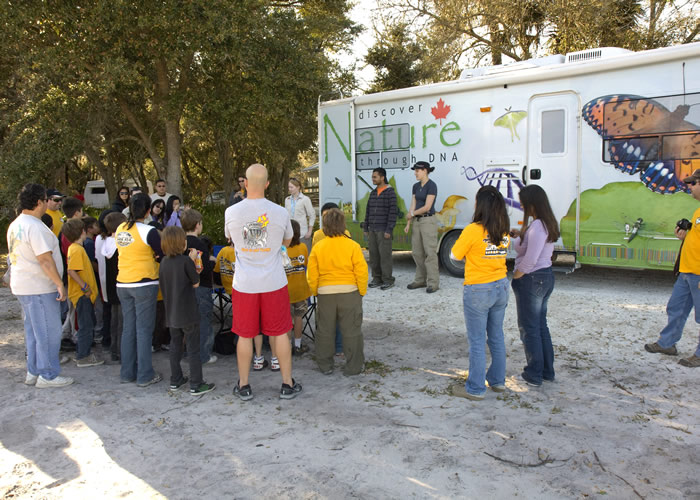 Cub Scout presentation at Kissimmee SP, FL